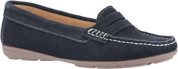Hush Puppies Margot Slip On Ladies Shoes Navy